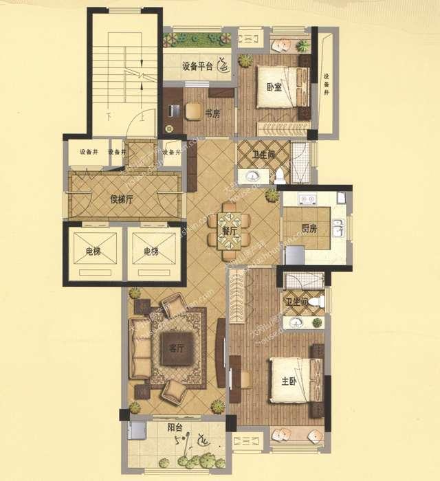 B1 115平米 两房两厅两卫