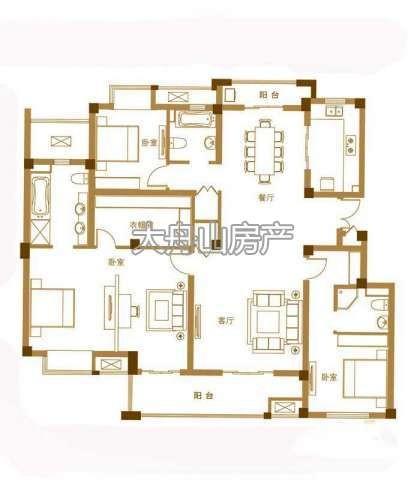 F户型3室2厅3卫1厨 178.00㎡