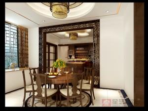 天香园新中式周总餐厅设计效果图_副本